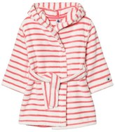 Petit Bateau Coral and Cream Stripes Bathrobe