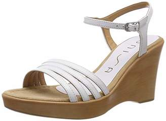 Unisa Women's Raizel_na Ankle Strap Sandals, White