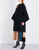 Roksanda Ladies Black Rimni Embroidered Cotton-Twill Coat