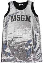MSGM Sequined Cotton Jersey Dress