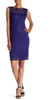Marina Bateau Neck Lace Sheath Dress