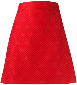 Gucci diagonal GG A-line short skirt