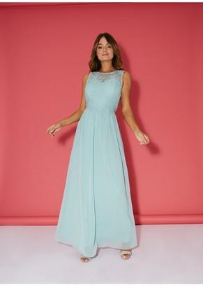 Little Mistress Bridesmaid Ella Thyme Lace Overlay Maxi Dress