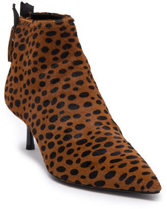 AGL Calf Hair Animal Print Bootie