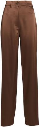 Nanushka Drew Satin Wide-Leg Pants