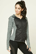 Forever 21 FOREVER 21+ Active Quilted Hooded Jacket