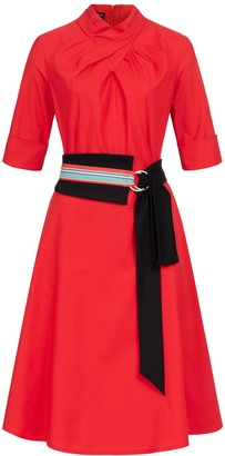 Marianna Déri Franchesca Dress Red with Two Belts