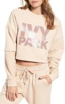 Ivy Park Women's Washed Jersey Cropped Logo Sweatshirt