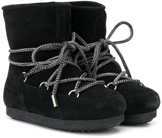 MOON BOOT KIDS Lace-Up Ankle Boots