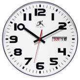 Infinity Instruments Cased Day/Date Business Clock in Black