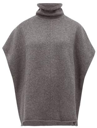 Joseph Roll-neck Wool-blend Poncho - Womens - Dark Grey