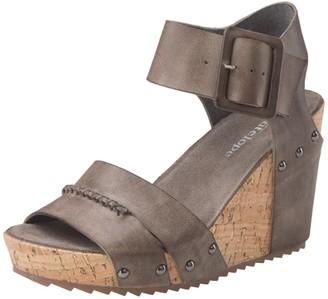 Antelope Leather Wedge Heel Sandal