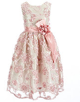 Jayne Copeland Little Girls 2T-6X Soutache Floral-Sash Dress