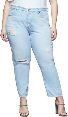 Good American Good Vintage Ripped High Waist Jeans