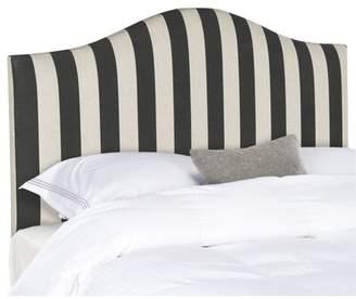 Charlton Home Rumford Upholstered Panel Headboard Charlton Home Size: Queen, Color: Black & White