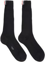Thom Browne Black Ribbed Socks