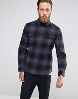 Levis Levi's Heavy Check Worker Shirt Graphite