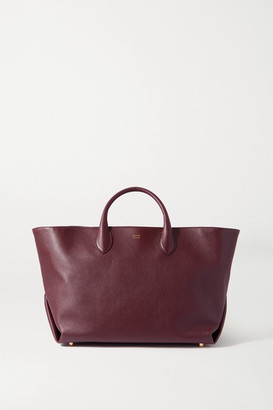 KHAITE Amelia Medium Leather Tote - Burgundy