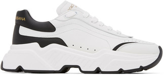 Dolce & Gabbana White and Black Daymaster Sneakers