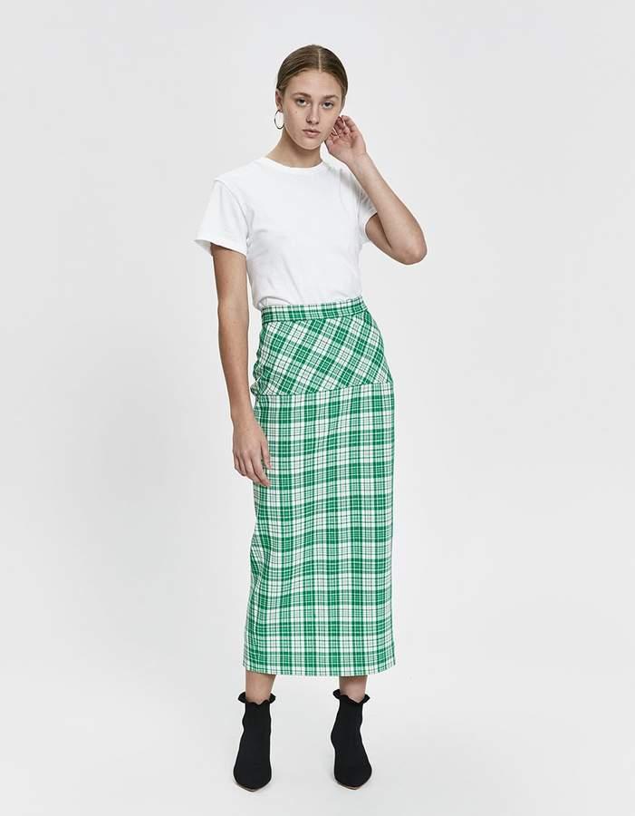 724186166 Green Plaid Skirt - ShopStyle