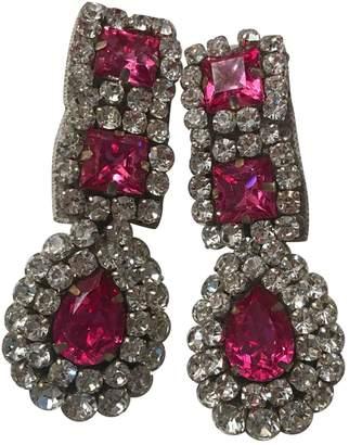 Moschino Pink Metal Earrings