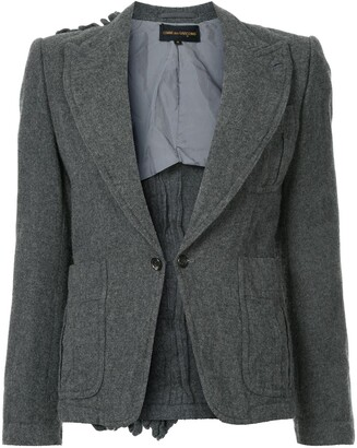 Comme des Garcons Pre-Owned ruffle back detail blazer