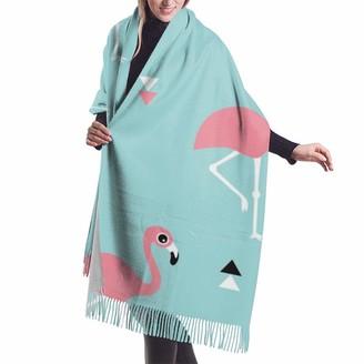 Rcivdkem Flamingo Beach Theme In Aqua And PinkImitation cashmere shawl cover-extra large thick soft scarf