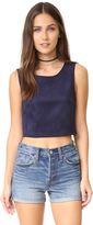 BB Dakota Jack by Delacour Faux Suede Crop Top