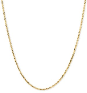 """Macy's Glitter Rope 24"""" Chain Necklace in 14k Gold"""