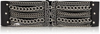 Nissa Metallic Detail Leather Belt