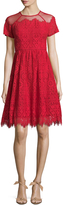 Maggy London Women's Bavarian Leaf Lace Flared Dress