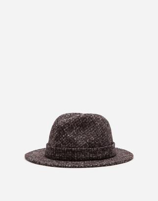 Dolce & Gabbana Fedora Hat In Micro Tweed