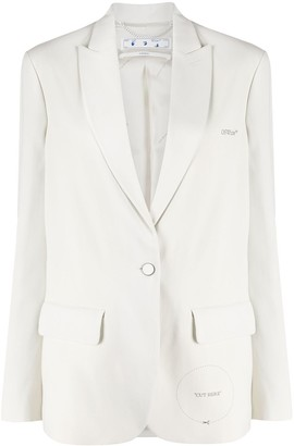 "Off-White ""Cut Here"" peak-lapel blazer"