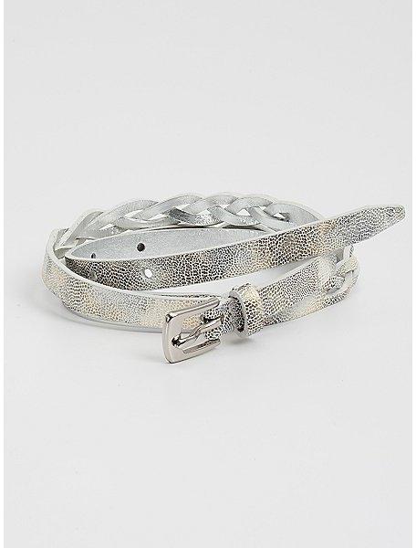 GUESS Braided Skinny Belt