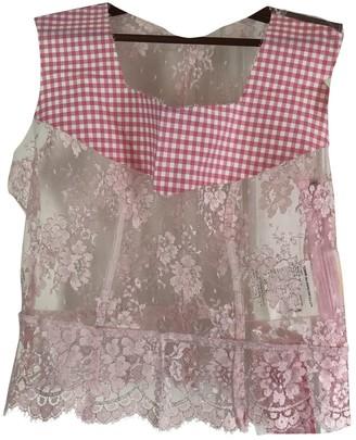 Comme des Garcons Pink Lace Top for Women
