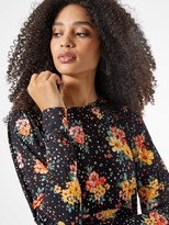 Thumbnail for your product : Dorothy Perkins Floral Jersey Fit & Flare Dress - Black