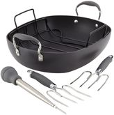 Anolon Advanced Hard Anodized Nonstick 5-Piece Roaster Set in Grey