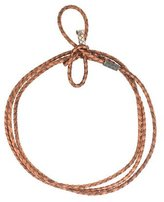 Bottega Veneta Metallic Intrecciato Leather Necklace