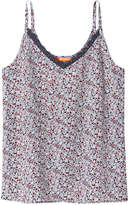 Joe Fresh Women's Print Silk Tank, Navy (Size M)