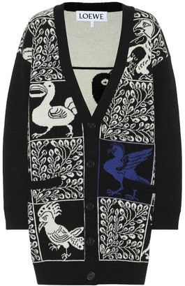 Loewe Wool and alpaca jacquard cardigan