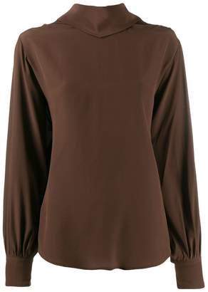 Cavallini Erika back tie fastening blouse