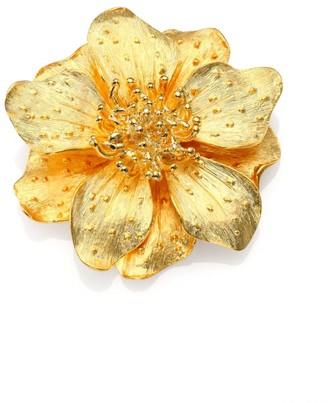 Kenneth Jay Lane Metallic Anemone Flower Pin