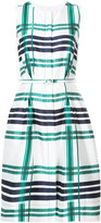 Oscar de la Renta sleeveless plaid dress