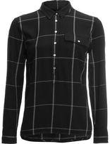 Carve Designs Hammond Popover Shirt - Women's Black Windowpane M