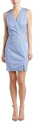 NYDJ Women's Ophelia Silky Cotton Gingham Dress with Fit Solution