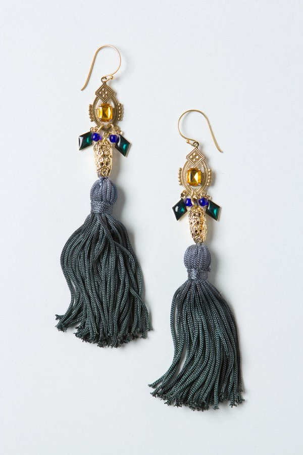 Anthropologie Ingress Tassel Earrings