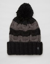 French Connection Stripe Bobble Hat