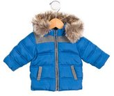 Tartine et Chocolat Boys' Faux Fur-Trimmed Puffer Coat w/ Tags