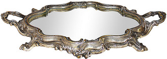 One Kings Lane Vintage French Silver on Bronze Plateau - House of Charm Antiques
