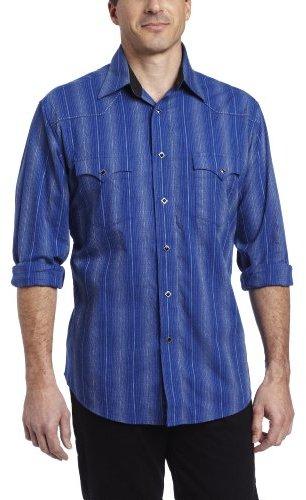 Wrangler Men's Silver Edition Three Snap Cuff Shirt